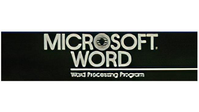 Microsoft Word Logo 1983-1987