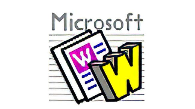 Microsoft Word Logo 1987-1991