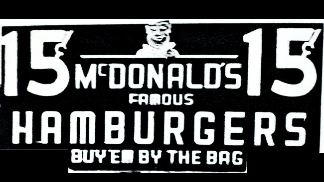 McDonalds Famous Hamburgers Logo 1948–1953