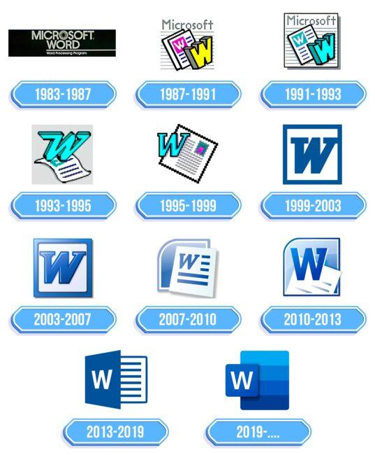 Microsoft Word Logo Storia