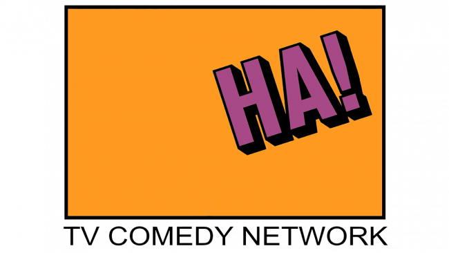 Ha! The TV Comedy Network Logo 1990-1991