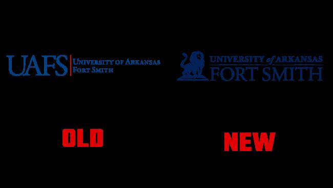 University of Arkansas Fort Smith Nuovo e Vecchio Logo