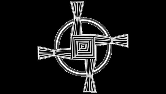 Celtic Brigid's Cross symbol