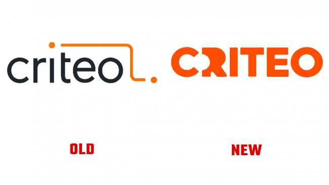 Criteo Vecchio e Nuovo Logo (storia)