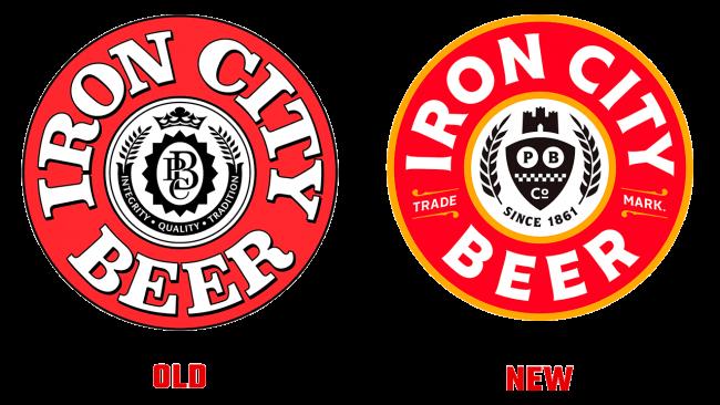 Iron City Beer Vecchio e Nuovo logo (storia)