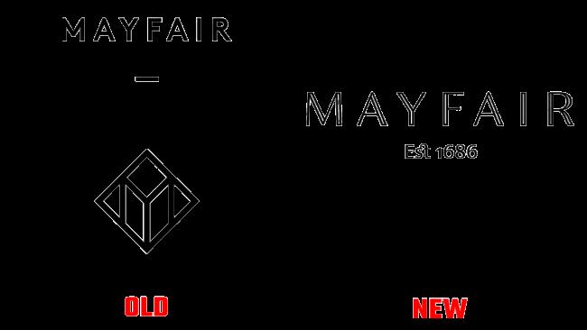 Mayfair Vecchio e Nuovo logo (storia)