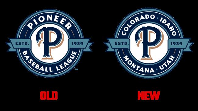 Pioneer Baseball League Logo Evoluzione