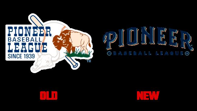 Pioneer Baseball League vecchio e nuovo logo (storia)
