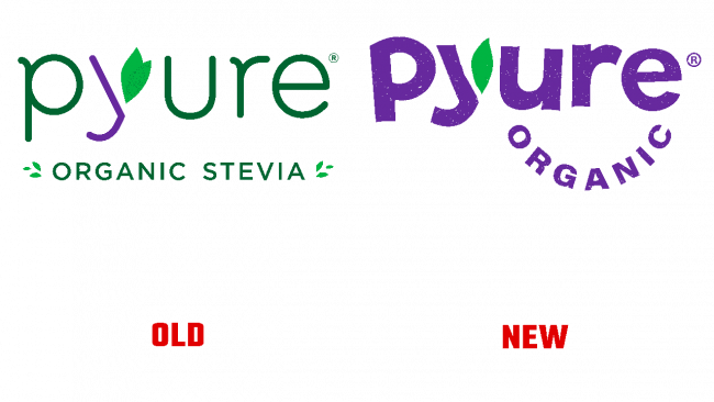 Pyure Organic Vecchio e Nuovo Logo (storia)
