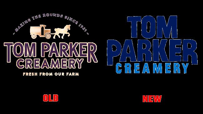 Tom Parker Creamery Vecchio e Nuovo Logo (Storia)