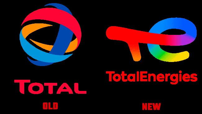 TotalEnergies Vecchio e Nuovo Logo (storia)