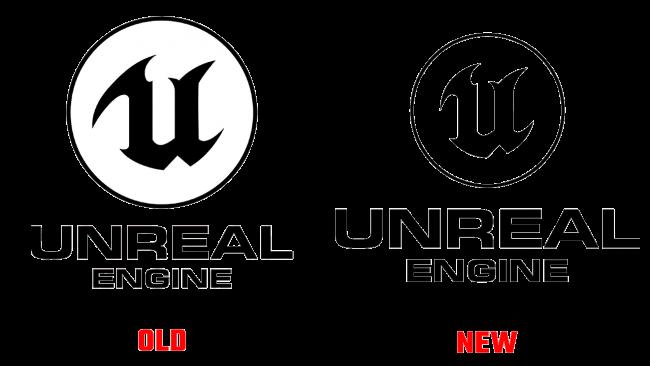 Unreal Engine Vecchio e Nuovo Logo (storia)