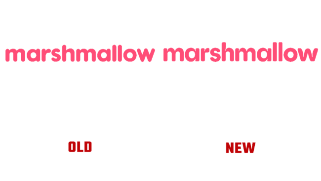 Marshmallow Vecchio e Nuovo Logo (storia)