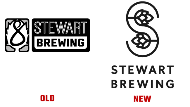 Stewart Brewing Vecchio e Nuovo Logo (storia)