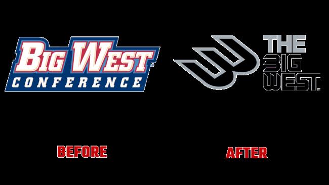 Big West Conference Prima e Dopo Logo (storia)