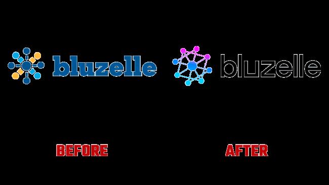 Bluzelle Prima e Dopo Logo (storia)