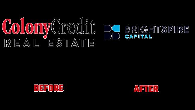 BrightSpire Capital Prima e Dopo Logo (storia)