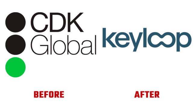 CDK Global and Keyloop Prima e Dopo Logo (storia)