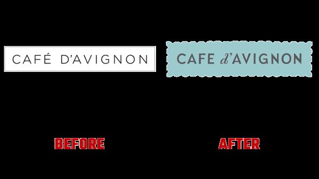 Café d'Avignon Prima e Dopo Logo (storia)