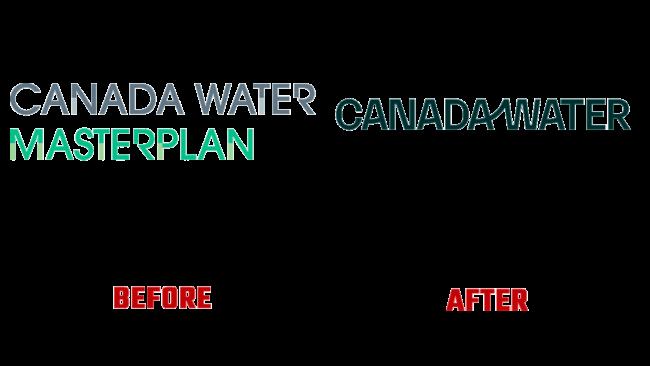 Canada Water Prima e Dopo Logo (storia)