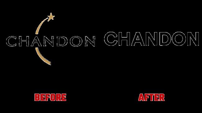 Chandon Prima e Dopo Logo (storia)