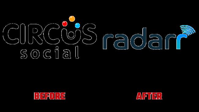 Circus Social and Radarr Prima e Dopo Logo (storia)