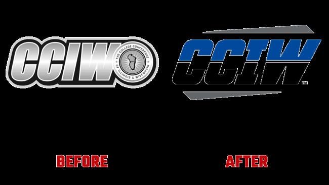 College Conference dell Illinois e del Wisconsin (CCIW) Prima e Dopo Logo (storia)