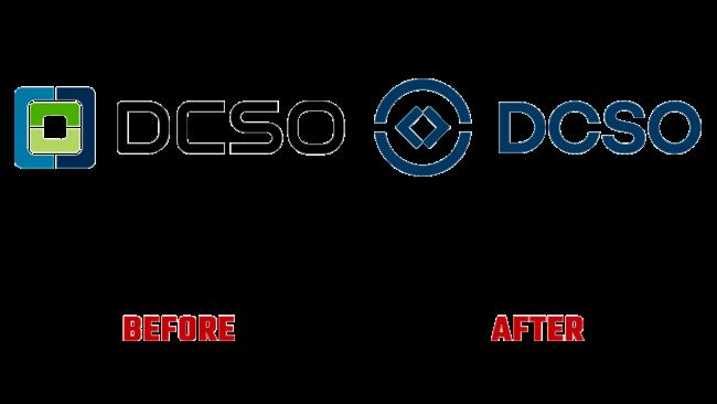 DCSO Prima e Dopo Logo (storia)