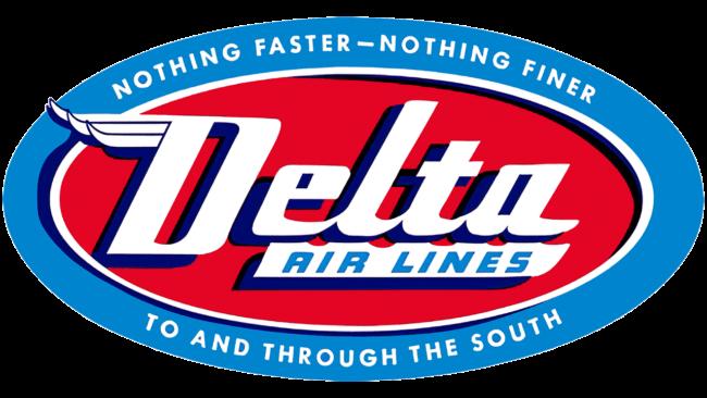 Delta Air Lines (Second era) Logo 1955-1959