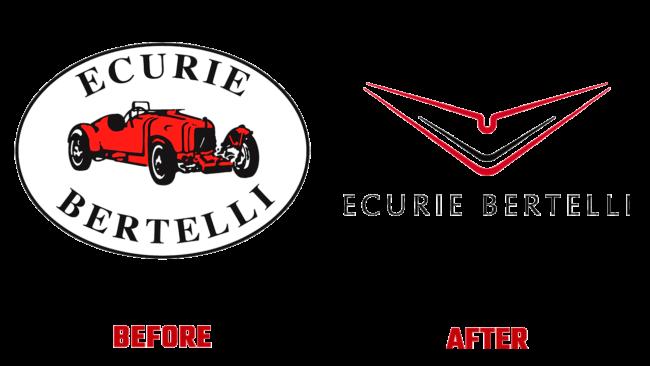 Ecurie Bertelli Prima e Dopo Logo (storia)