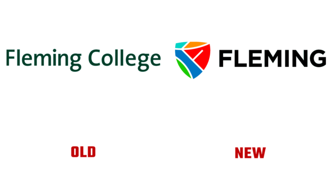 Fleming College Vecchio e Nuovo Logo (storia)