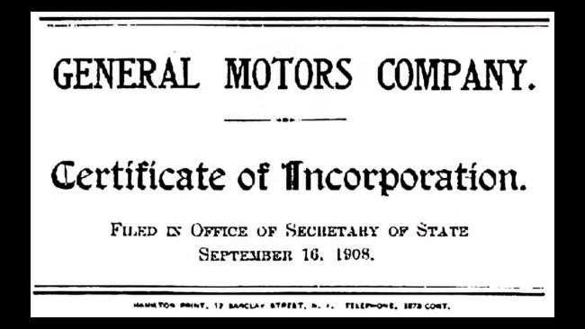 General Motors Logo 1908-1938