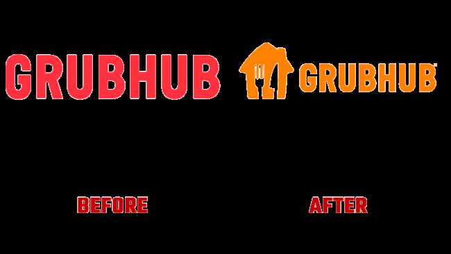 Grubhub Prima e Dopo Logo (storia)