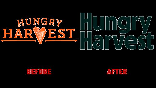 Hungry Harvest Prima e Dopo Logo (storia)
