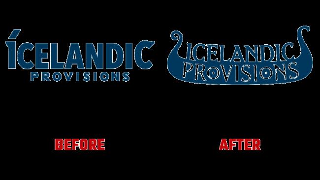 Icelandic Provisions Prima e Dopo Logo (storia)