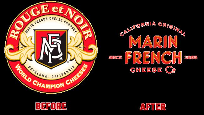 Marin French Cheese Prima e Dopo Logo (storia)