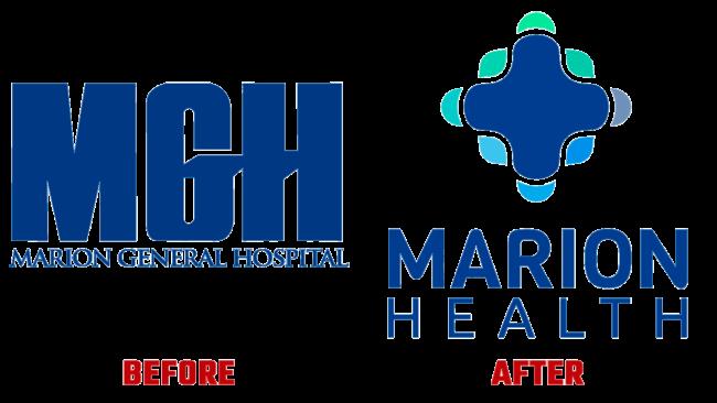 Marion Health Prima e Dopo Logo (storia)