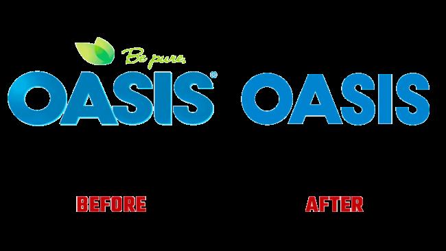 Oasis Prima e Dopo Logo (storia)