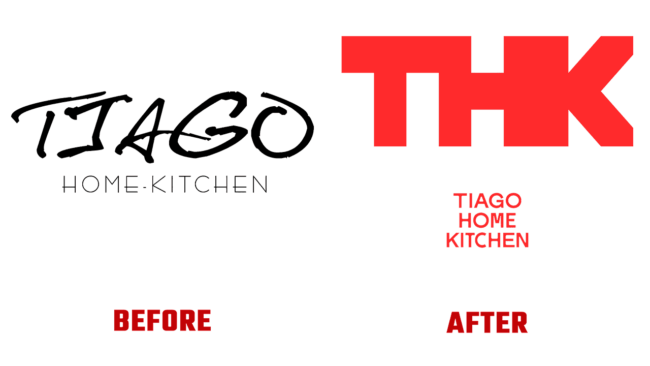 Tiago Home Kitchen Prima e dopo Marchio (storia)