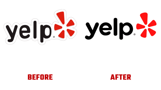 Yelp Prima e Dopo Logo (storia)