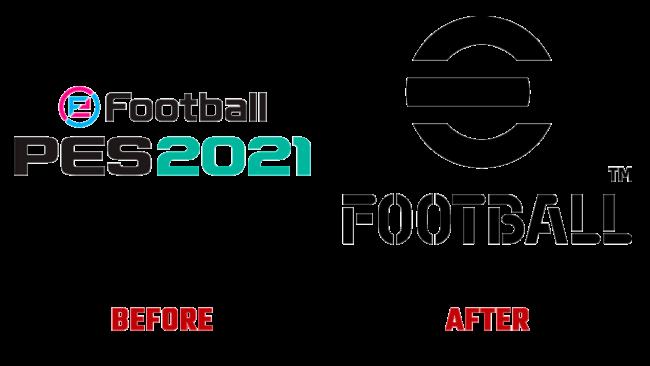 eFootball Prima e Dopo Logo (storia)