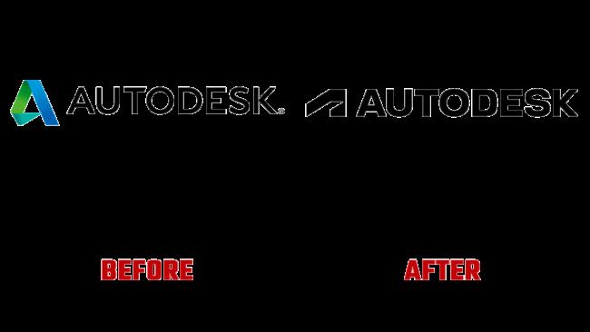 Autodesk Prima e Dopo Logo (storia)