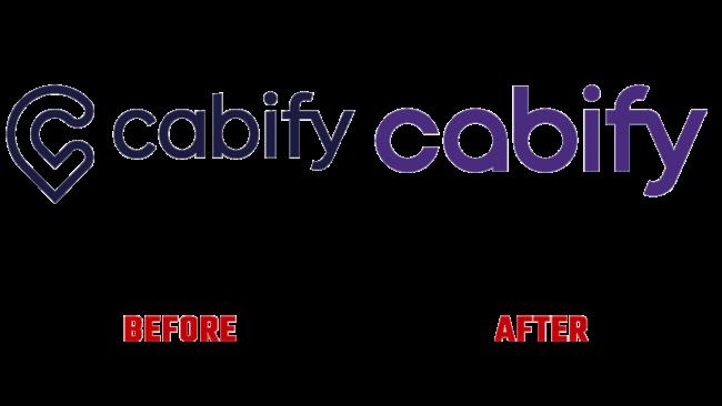 Cabify Prima e Dopo Logo (storia)