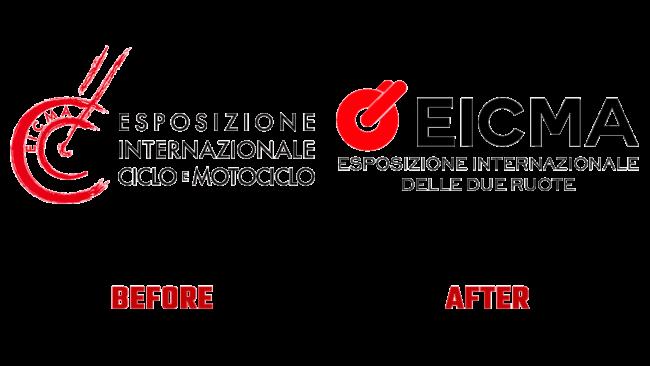 EICMA Prima e Dopo Logo (storia)