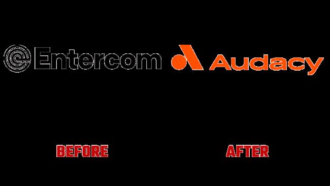 Entercom e Audacy Prima e Dopo Logo (storia)