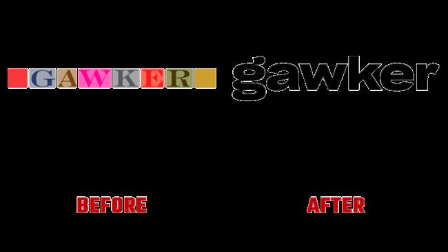 Gawker Prima e Dopo Logo (storia)