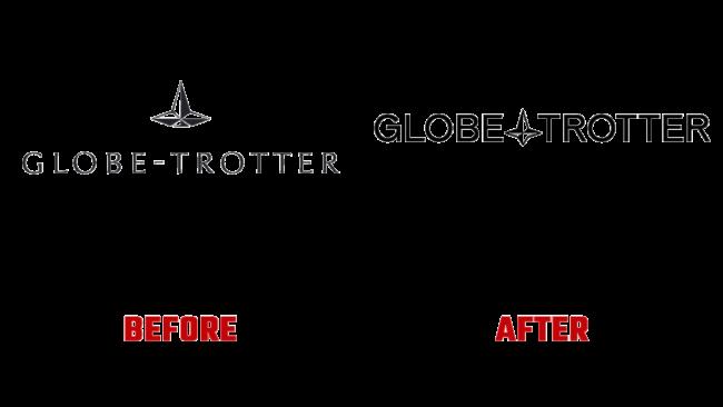 Globe Trotter Prima e Dopo Logo (storia)