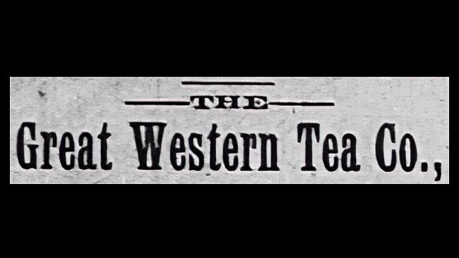 Great Western Tea Company Logo 1883-1902