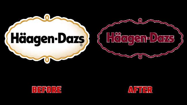 Haagen-Dazs Prima e Dopo Logo (storia)