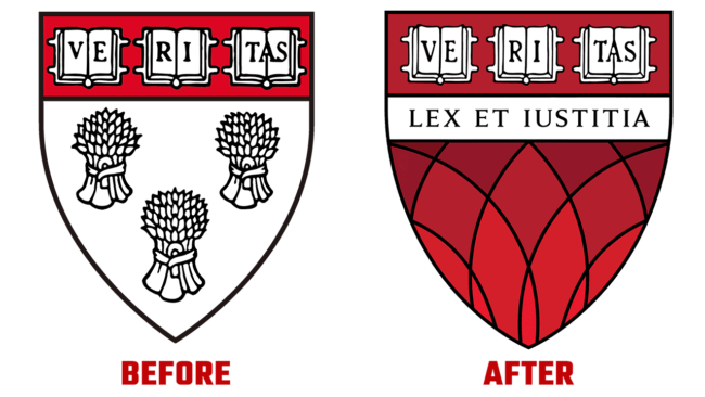 Harvard Law School Prima e Dopo Logo (storia)